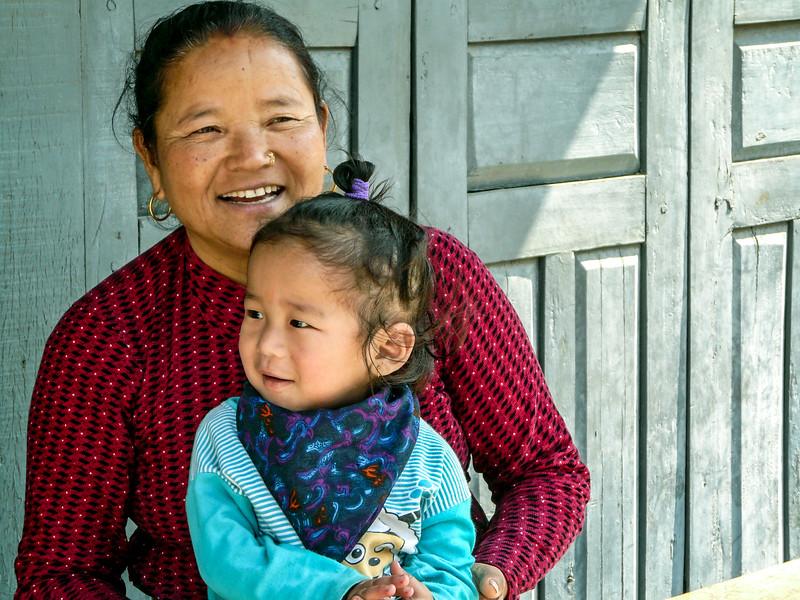 Nepali Woman and Child, Pokhara