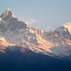 First Light on Machapuchare, Pokhara