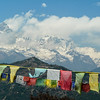 Machapuchare and Tibetan Flags, Pokhara