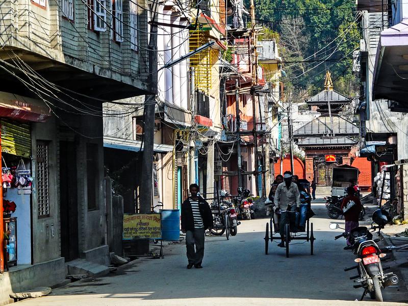 Temple and Rickshaw, Bairawa