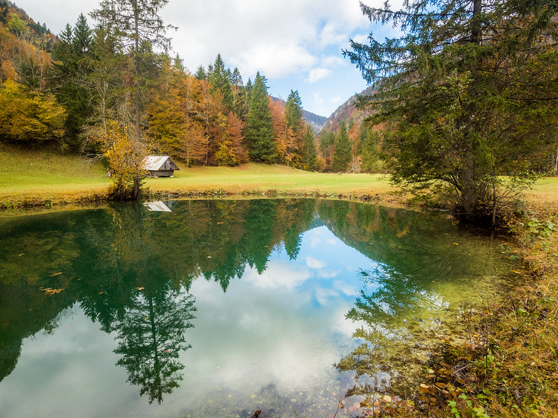 Lonely Cabin in Triglav National Park, Slovenia