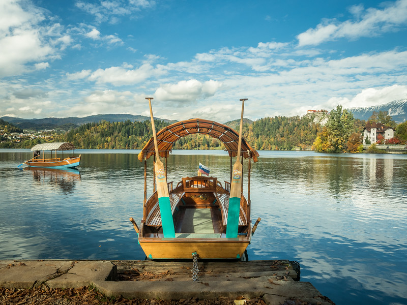 Boats on the Lake, Bled, Slovenia