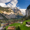Descent to Lauterbrunnen, Switzerland