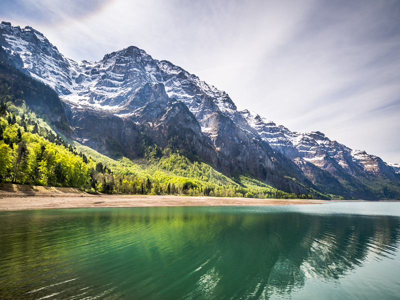 Ripples on Klöntalersee, Glarus, Switzerland