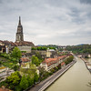 Gray Clouds on the Aare, Bern, Switzerland