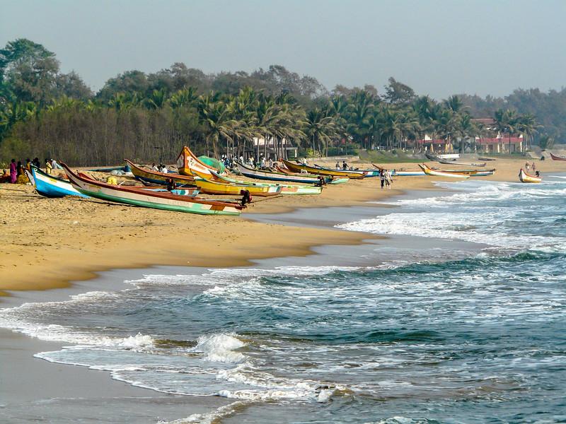 Fishing Boats on the Beach, Mamallapuram