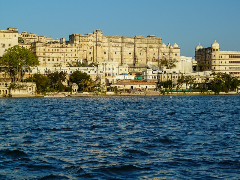 Udaipur Palace on a blue Lake Pichola