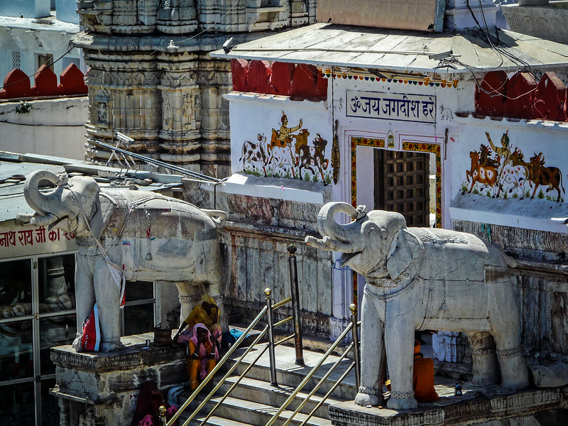 Elephants Guarding Jagdish Temple, Udaipur