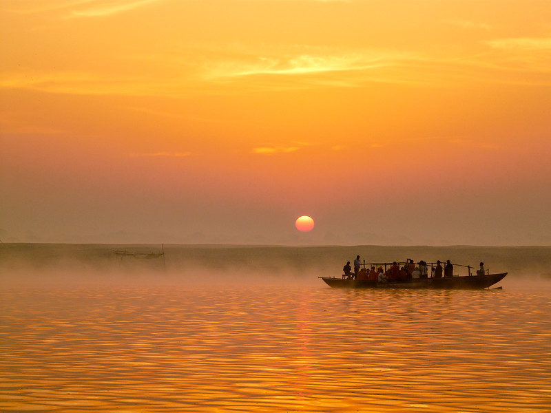 Sunrise on the Ganges, Varanasi, India