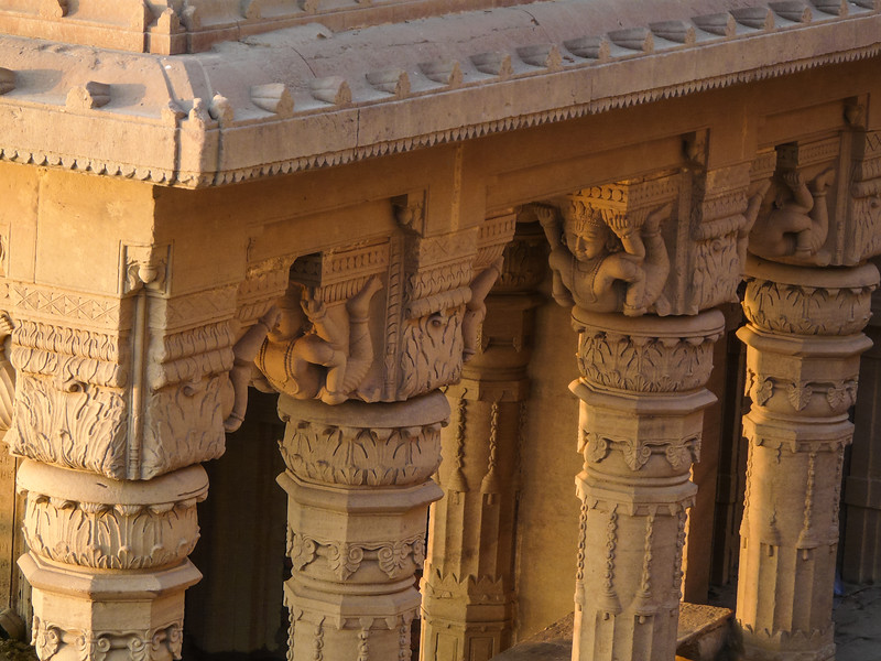 Carved Pillars of Sunken Temple, Varanasi