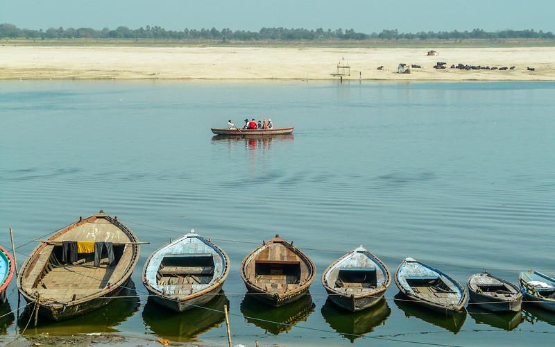 Row Boat Row, Ganges River, Varanasi, India
