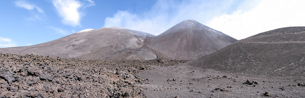 Mt Etna Lava fields and crater