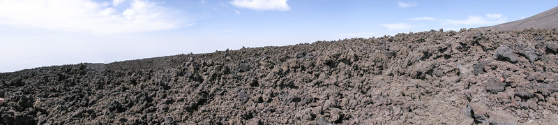 Scoracious LAva flow on the flanks of Mt Etna