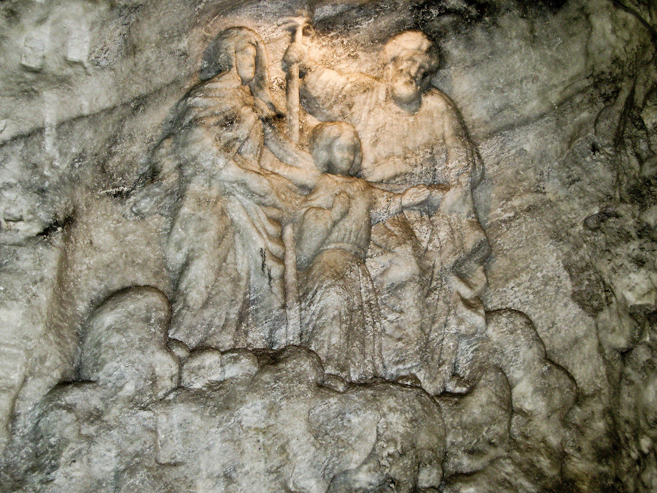 Carving In Salt Mine