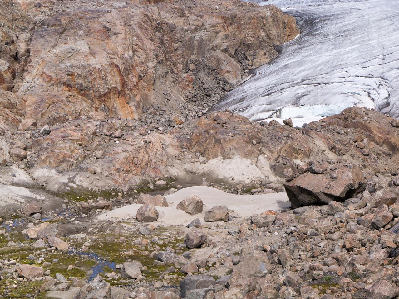 Rock or Glacial flour forming dunes