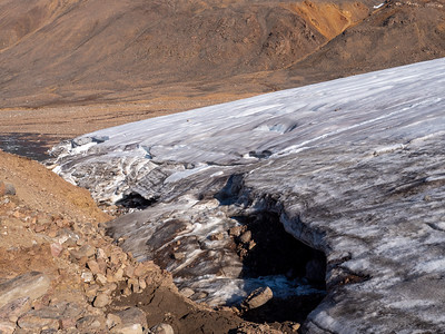 Terminus of Cold Based Glacier