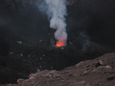 Magma chamber on Stromboli