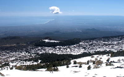 South Slope of Etna looking at Cinder cones