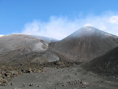 Mt Etna belching fumes