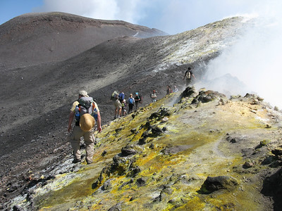 On the crater edge of Mt Etna