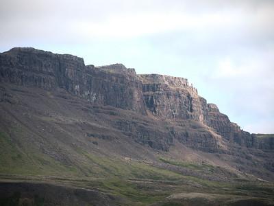 Iceland Grabok Basalt Cliffs