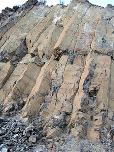 Columnar joints in basalt