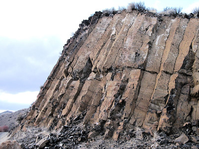 Columnar basalt or joints