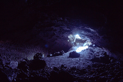 Looking out the Lava Tube