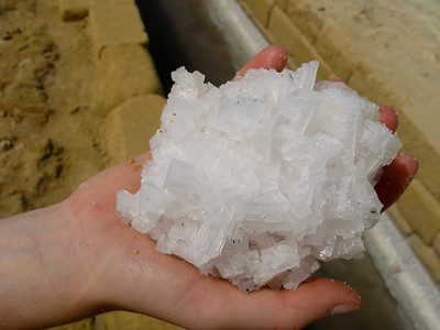 Halite crystals