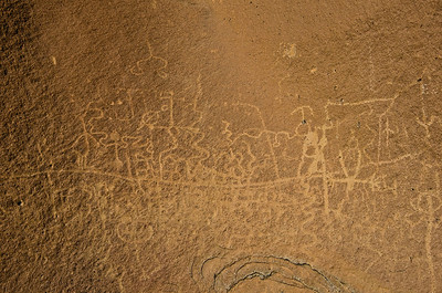 Petroglyphs at Indian Head.