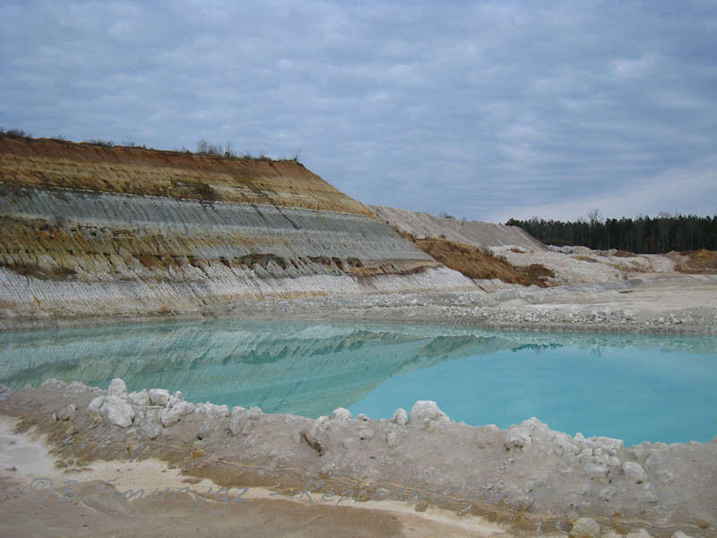 Kaolin clay mine (middle GA)