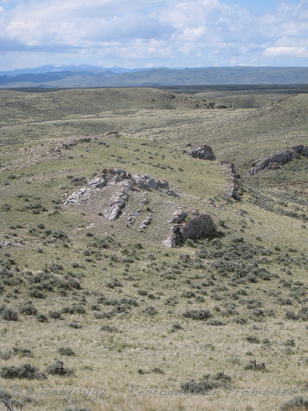 More tilted rock layers, possibly limestone - this part of Montana was once underwater.