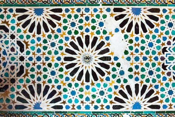 Wall detail III, Alhambra, Granada