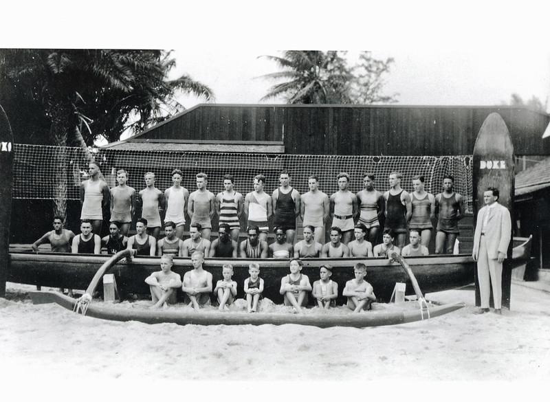 """""""Dad"""" Center's Men's Swim Team 1925"""
