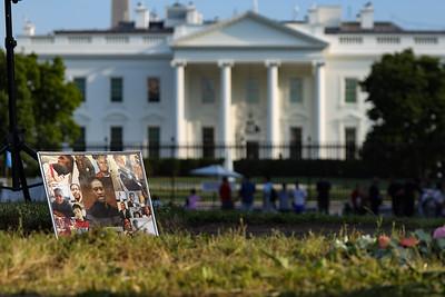 Vigil near White House on George Floyd death anniversary
