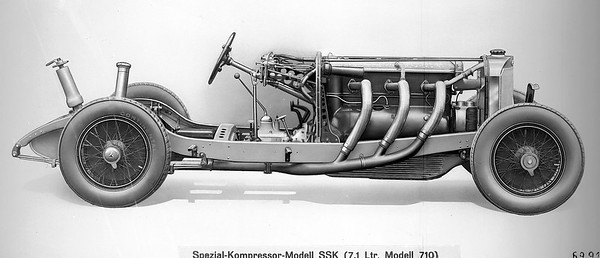 1928-32 Mercedes-Benz SSK 7 1L I-6 Supercharged Chassis