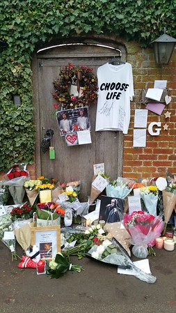 It has only been 6 days since George passed away and the floral tributes are already considerable.