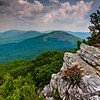 View of the Ridge and Valley Appalachians from Tibbet Knob, George Washington National Forest, West Virginia.