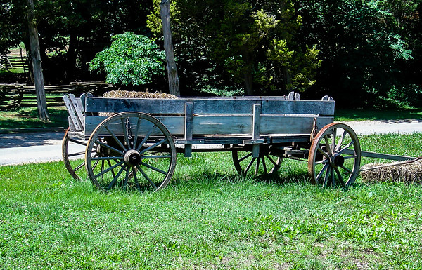 Rustic Wagon, George Washington's Mount Vernon, Virginia