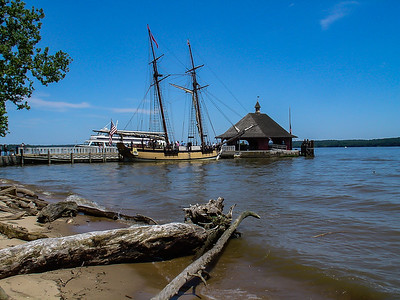 Tall Ship and Potomac River, George Washington's Mount Vernon, VA