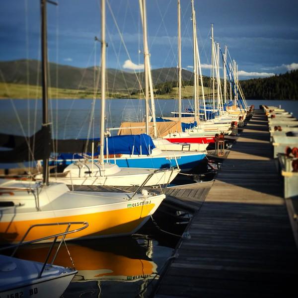 Sailboats on Lake Dillon Marina, CO