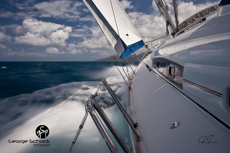 Close Hauled off of Virgin Gorda in the British Virgin Islands