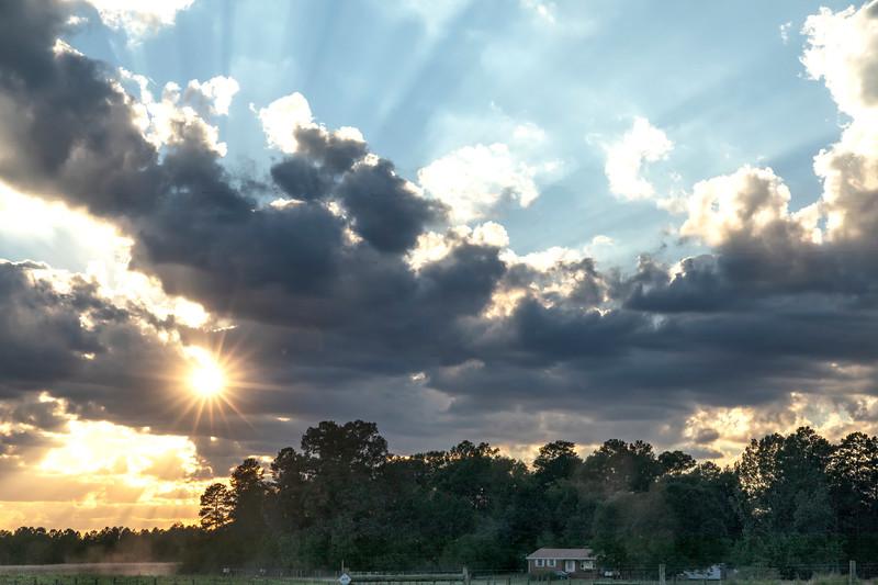 Sunset at Iron Horse Farm