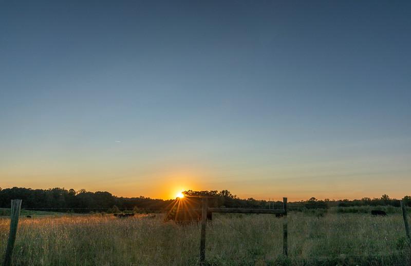 Sunset on Freeman Creek Road