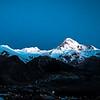 Mt Kazbegi in moonlit sky