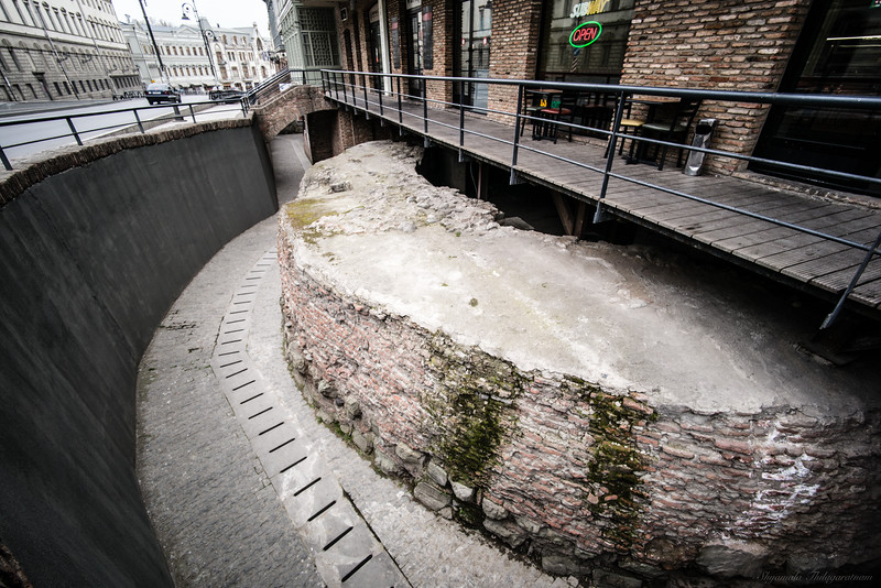 While Pushkin Street in central Tbilisi was undergoing some repairs in 2012, this 12th century city wall was found underneath.