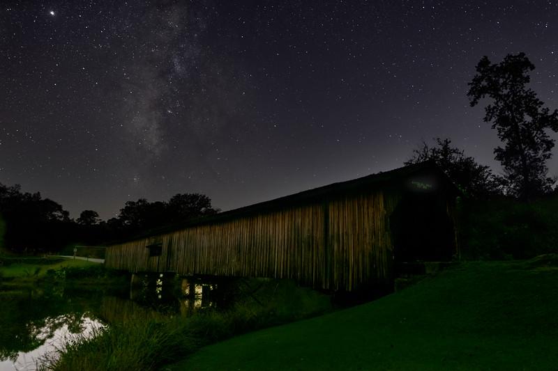 Milky Way Over Watson Mill Covered Bridge