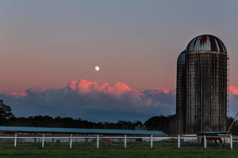 Moon Rising at Sunset