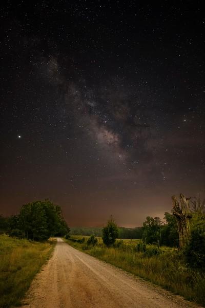 Milky Way Over Freeman Creek Road