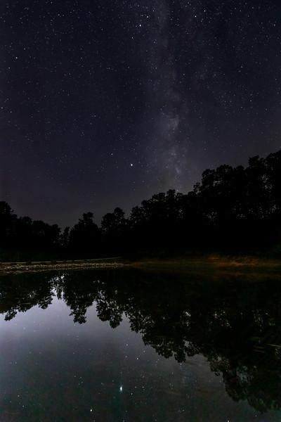 Milky Way Reflects on Lake at Victoria Bryant State Park